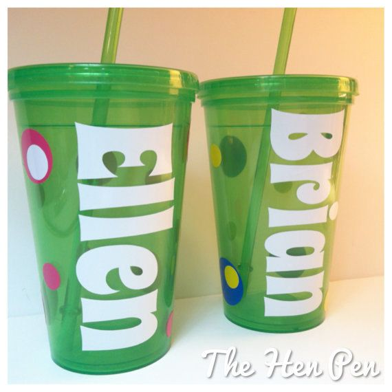 Hey, I found this really awesome Etsy listing at http://www.etsy.com/listing/166288939/green-personalized-gift-kids-cups-16oz