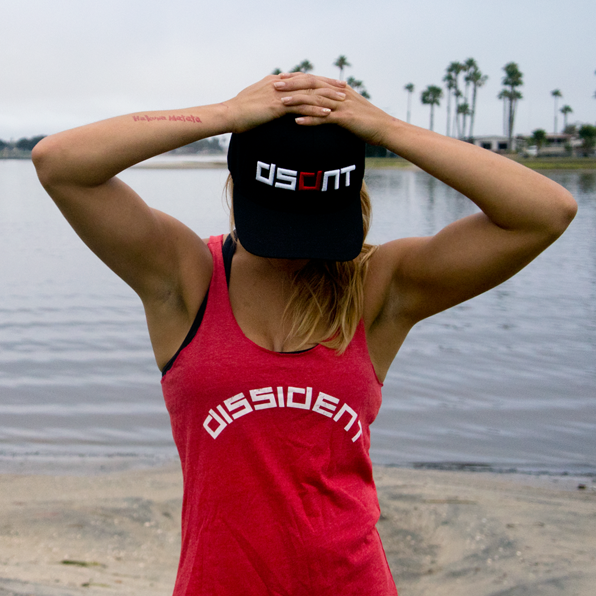 Dissident Gym Wear Ladies Red Racer Tank