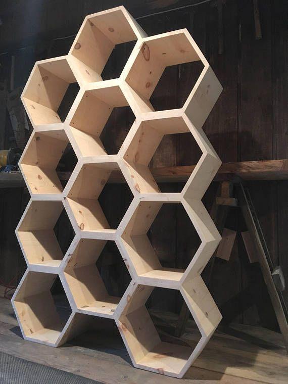 Hexagon Shelves Honeycomb Bookshelf Dresser Retail LOVE This IDEA Bears Love Honey Hmmmmmm