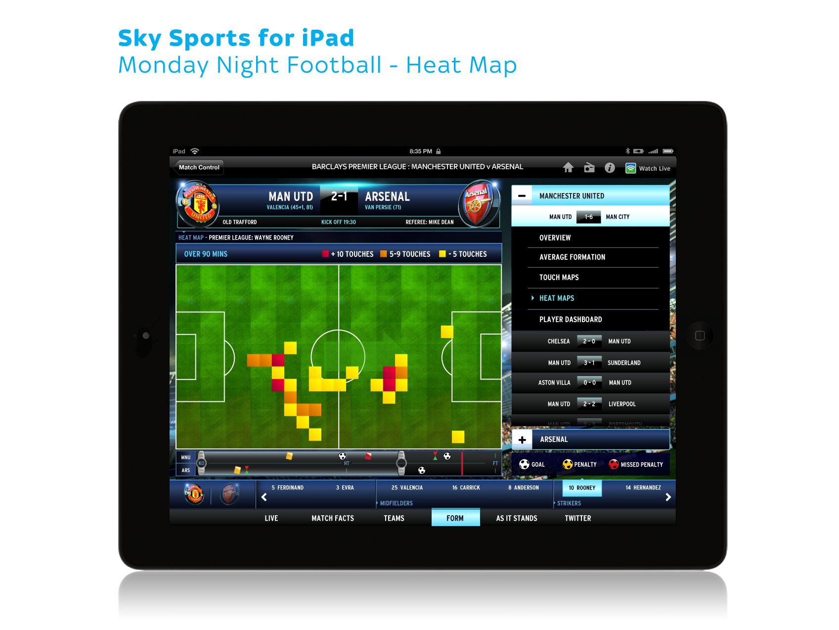 Sky Sports for iPad Monday Night Football 02 (With images