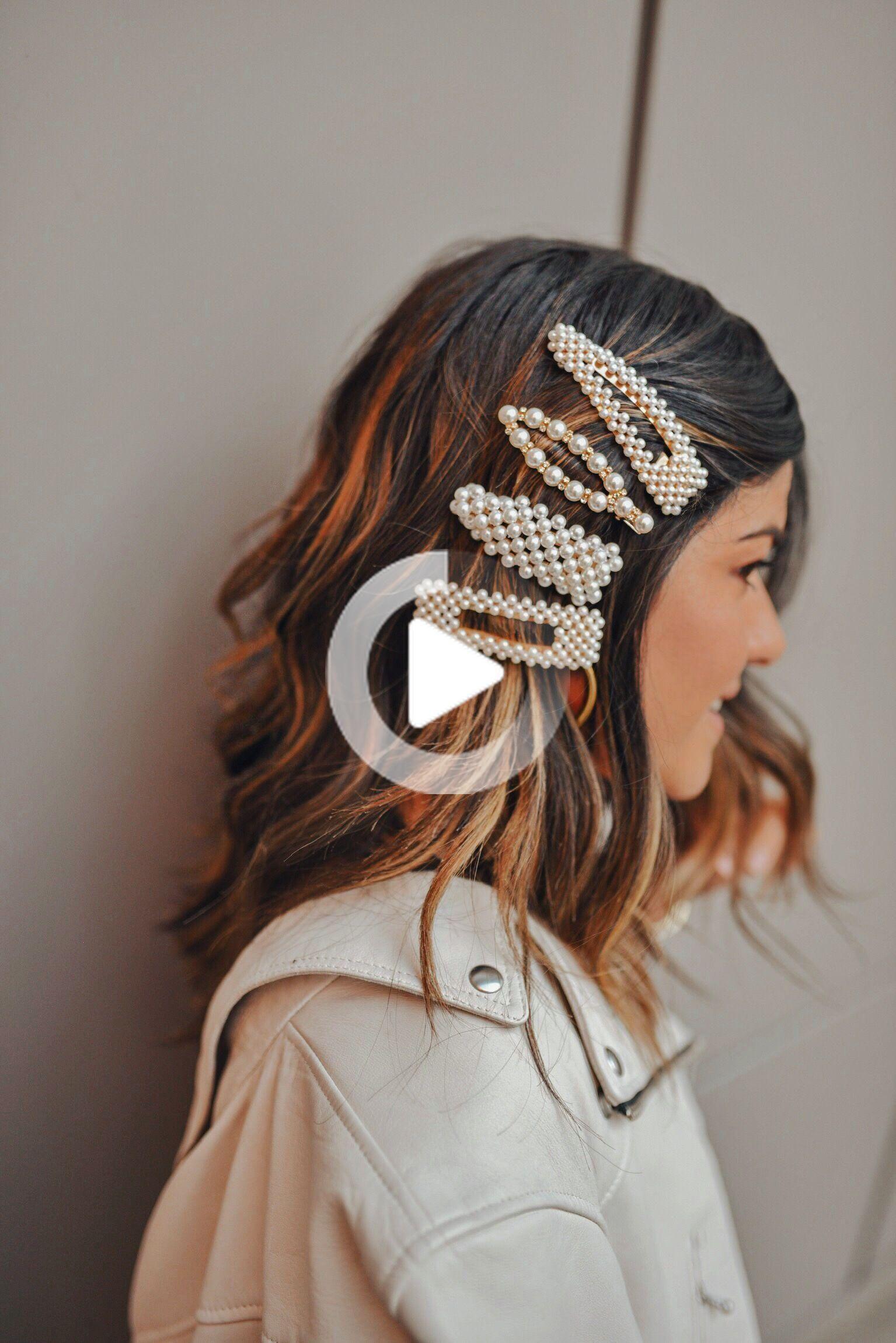 Die Barrette Trend Ist In Aller Munde In 2020 Glatte Frisuren Haar Accessoires Frisuren