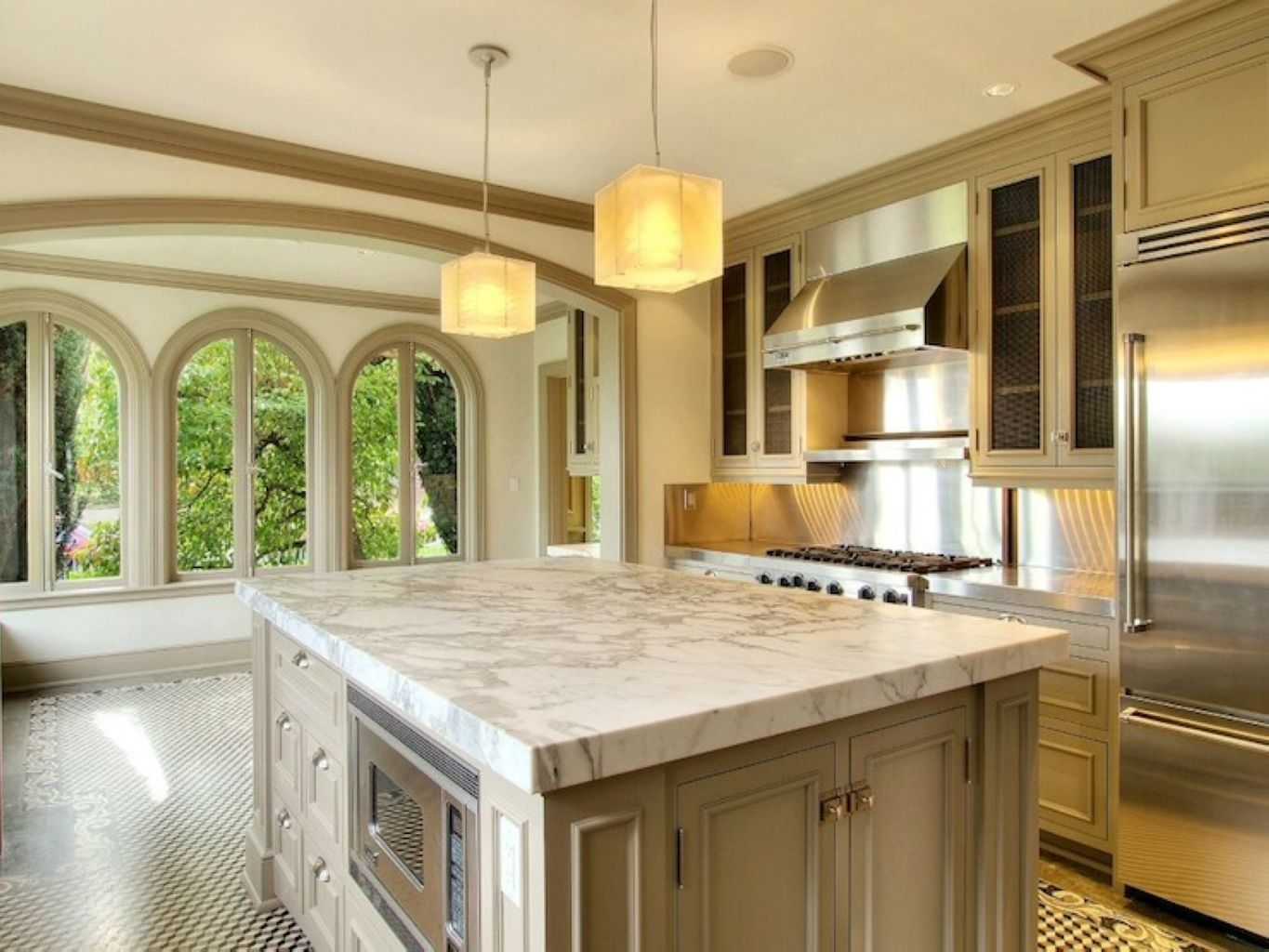 51 Beautiful Combination Color Marble in the Kitchen ...