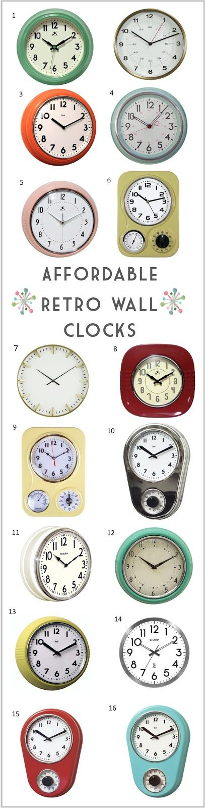 Affordable Mid Century Modern Clocks Inspiration  Moodboard Cool Small Wall Clock For Bathroom Decorating Inspiration