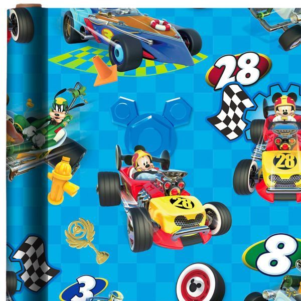 Mickey And The Roadster Racers Gift Wrap Mickey Mouse Gifts