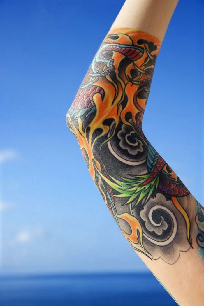 Sleeve Tattoos For Men With Colors Dragon Tattoo For Women Tattoos For Guys Sleeve Tattoos