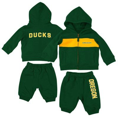 f1037ab66801 Oregon Ducks Infant Wizard Full Zip Pant Set - Green