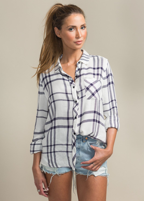 Flannel shirt with shorts  Ari Plaid Shirt vetedbasics  Fall Fashion Outfits for