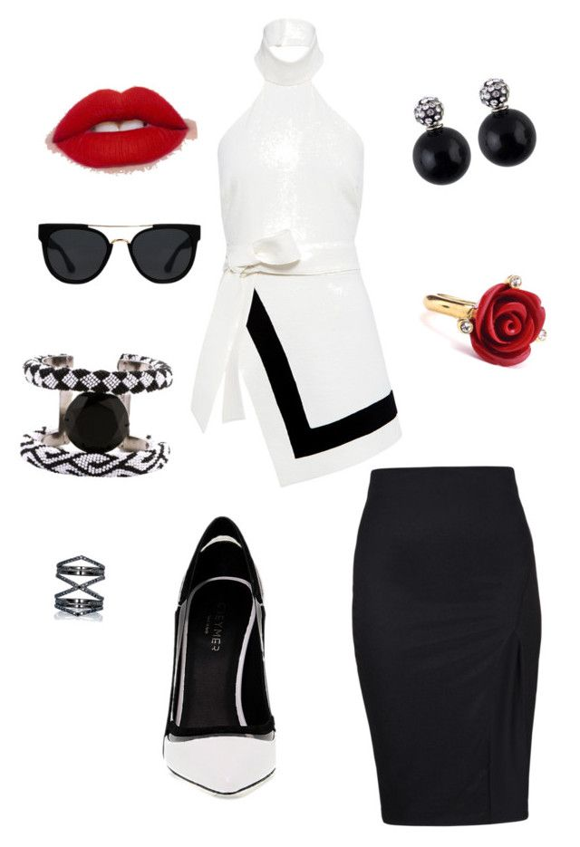 """""""Untitled #2"""" by crystylesf-1 on Polyvore featuring Finders Keepers, Greymer, Quay, Oscar de la Renta, Eva Fehren and Forest of Chintz"""