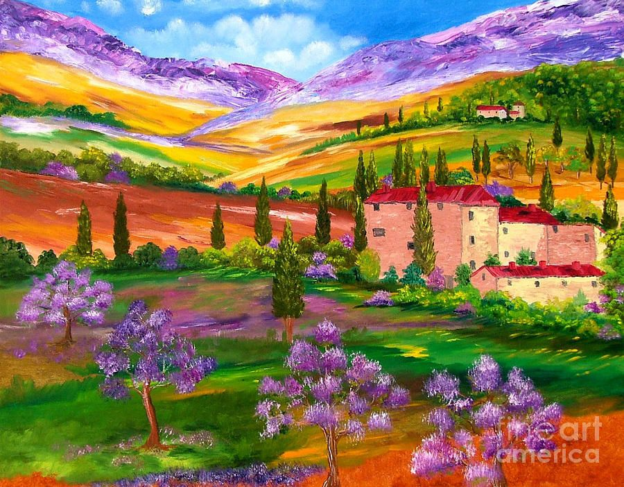 Colors Of Tuscany By Inna Montano In 2019 Painting