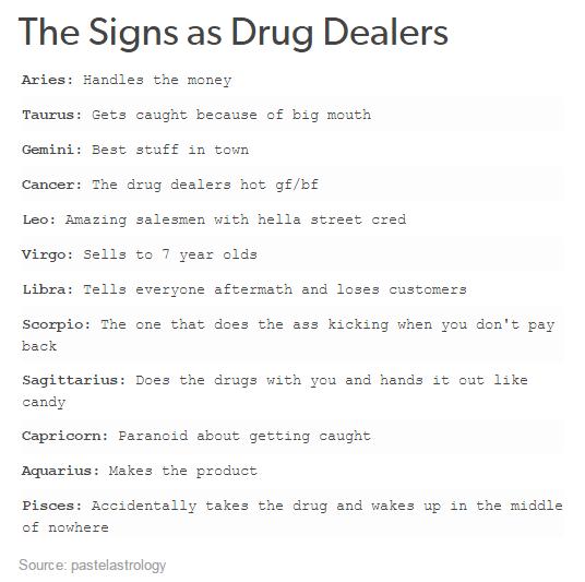 drug dealer signs
