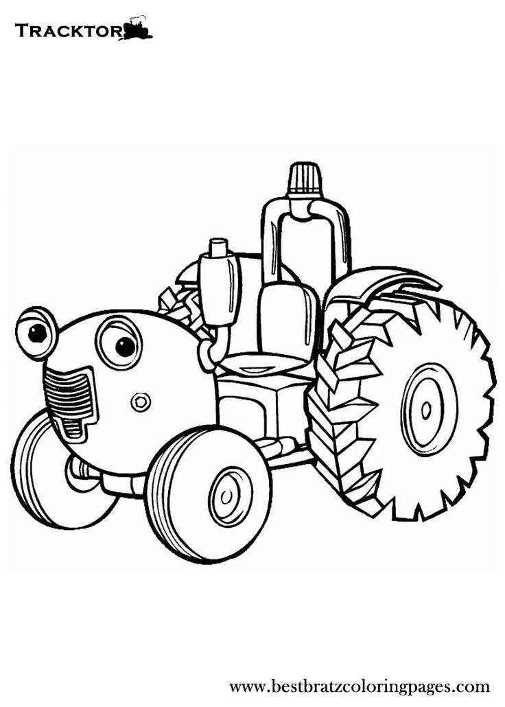 kleurplaten tractor tom