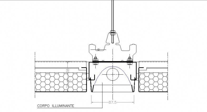 Lighting body electrical plan cad drawing details dwg file Cadbull