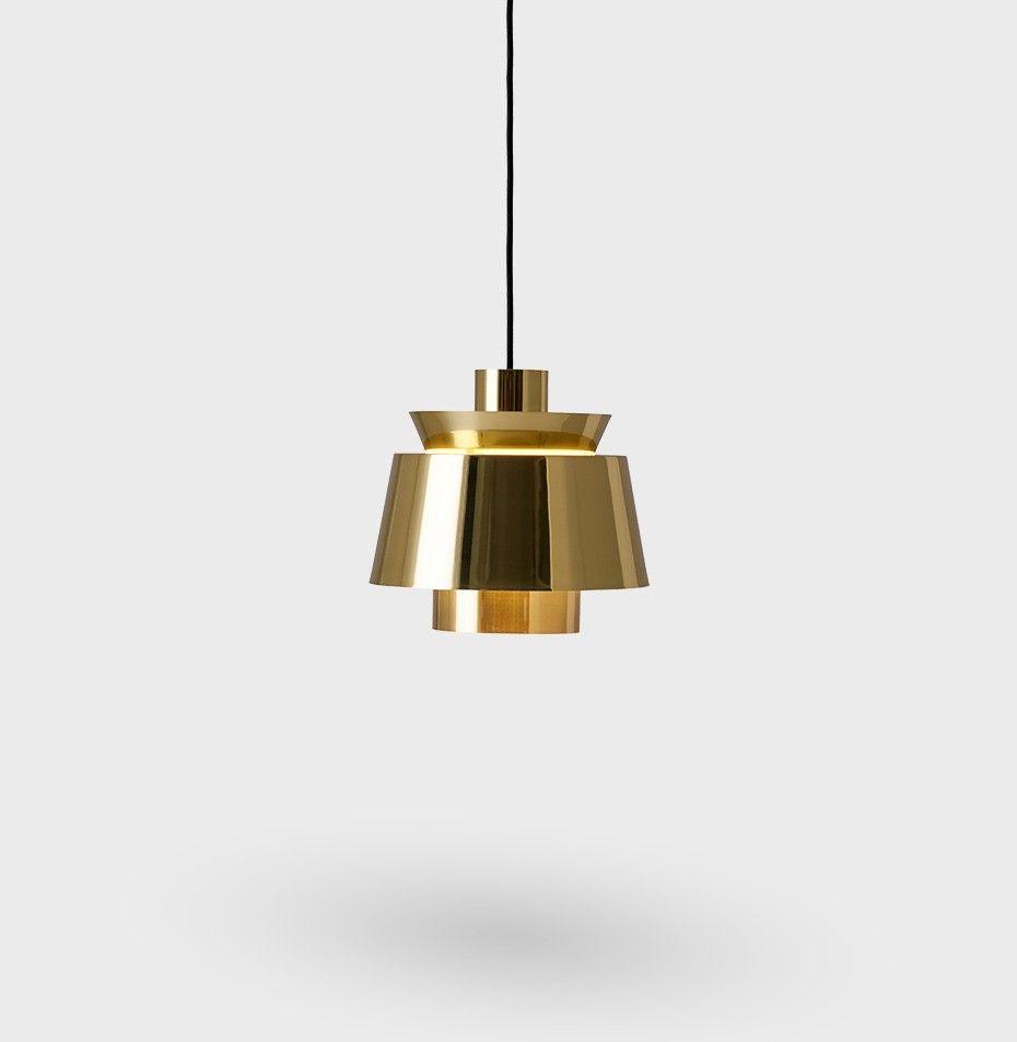 Ju1 Af Jorn Utzon Pendel Lampe O22 Cm Brass Amp Tradition Pendel Lamper Sommerhus