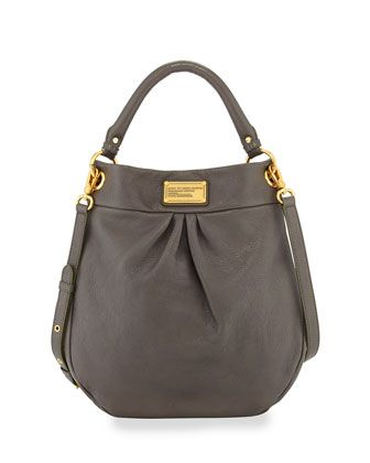 Classic+Q+Hillier+Hobo+Bag,+Faded+Aluminum+by+MARC+by+Marc+Jacobs+at+Neiman+Marcus.