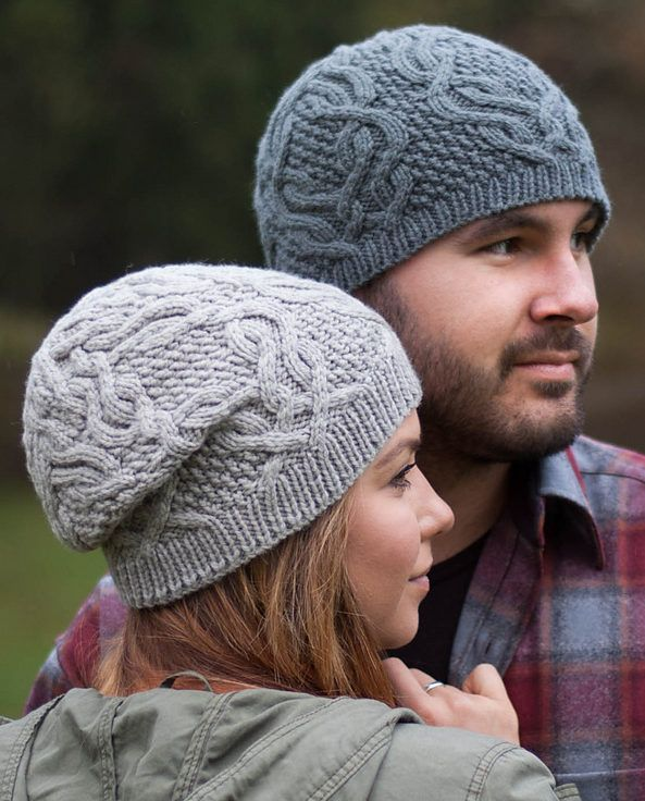 de1e1e7453e Free Knitting Pattern for Unisex Cable Hat - This unisex hat comes in  fitted and slouchy versions with 3 sizes and features cables on textured  panels.