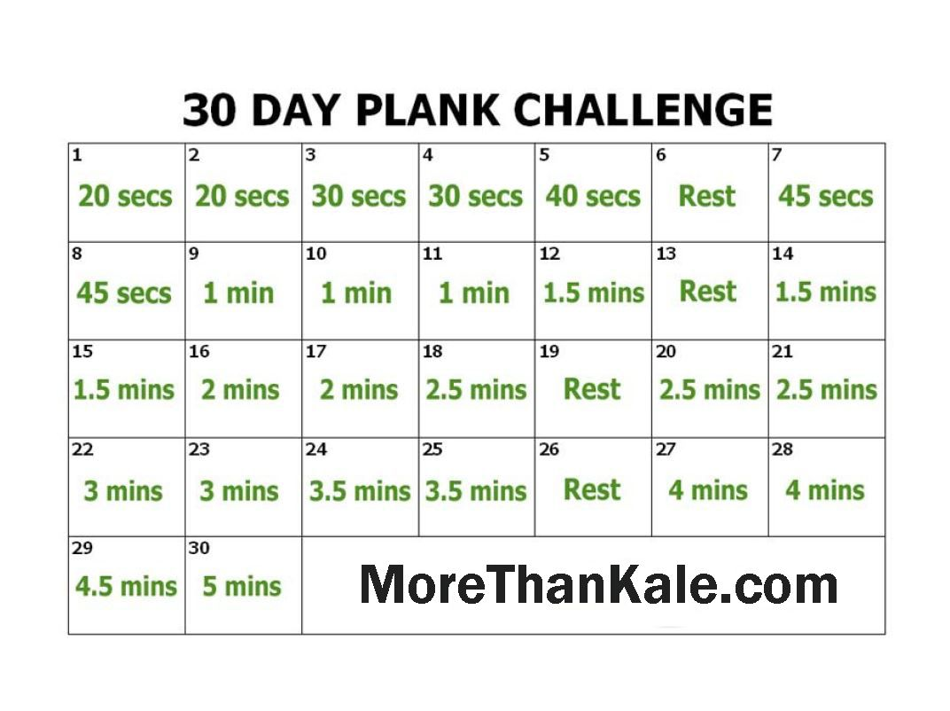 Innovative 30 day plank challenge printable calendar abs core pinterest plank challenge for Printable 30 day calendar