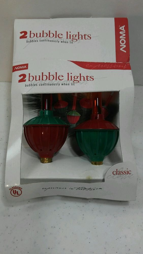 Vintage Noma Bubble Lights Replacement Bulbs 2 Tis The