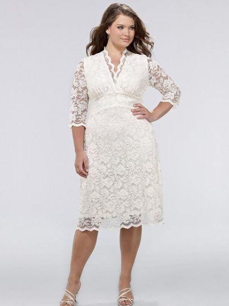 vestido de novia corto en tallas grandes | vestidos para novias