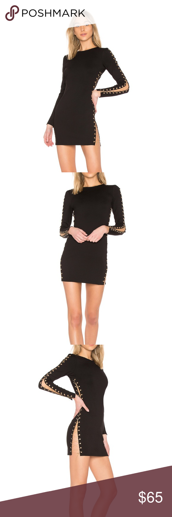 fa4929900729 Andy Chain bodycon dress Amazing LBD with lace up chain detail. Only worn  once. Size large but sits like a medium! By The Way Dresses Mini
