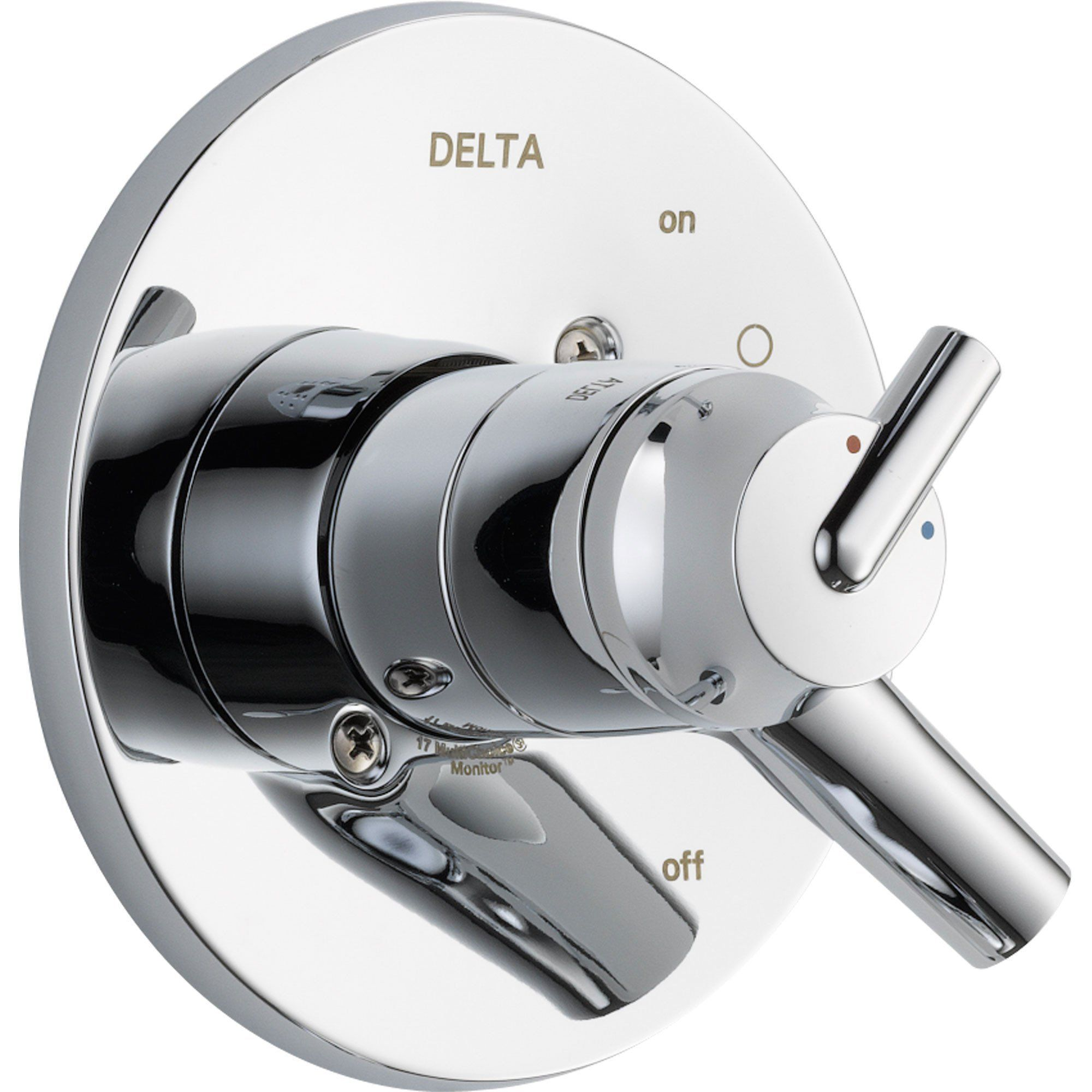 Delta Trinsic Two Handle Chrome Shower Valve Lever Control Trim
