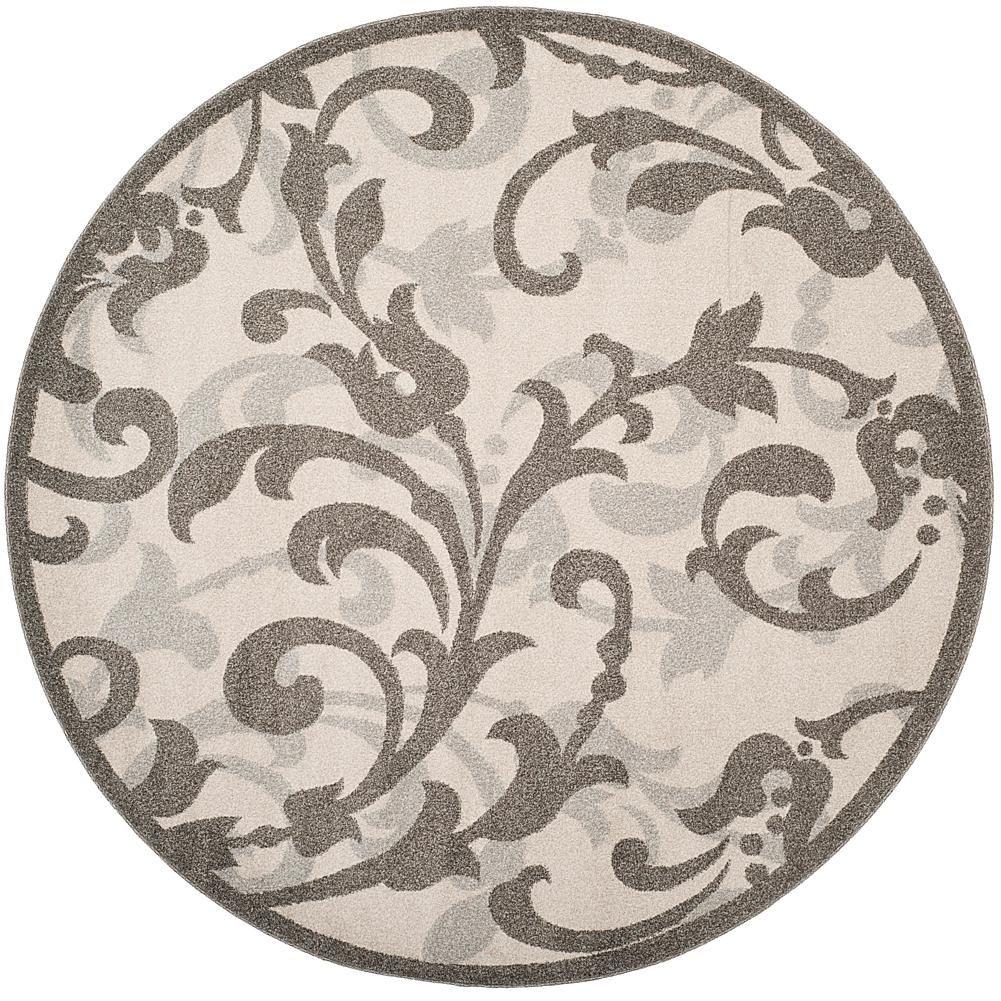 Safavieh Amherst Rosita 7 X 7 Round Rug Gray Grey Pinterest