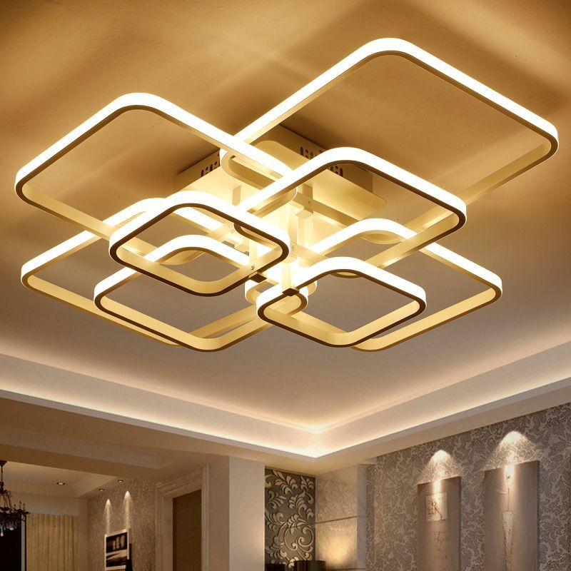 Rectangle acrylic led ceiling lights for living room bedroom modern rectangle acrylic led ceiling lights for living room bedroom modern led lamparas de techo new white aloadofball Image collections