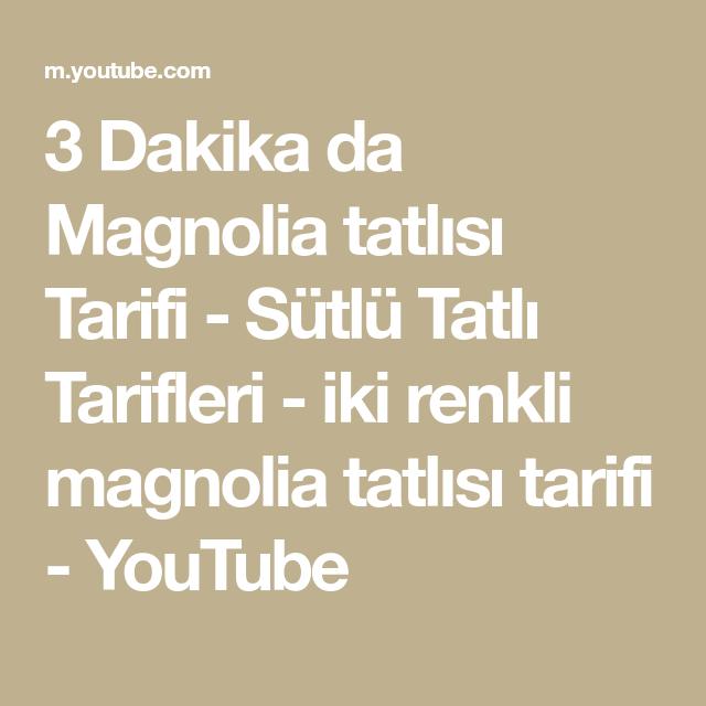 3 Dakika da Magnolia tatlısı Tarifi - Sütlü Tatlı Tarifleri - iki renkli magnolia tatlısı tarifi #magnoliatarifleri