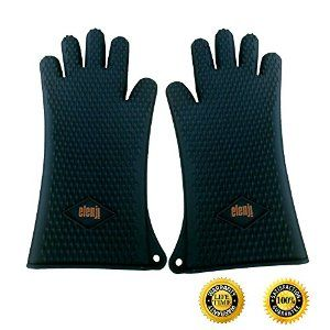 Amazon Com Silicone Cooking Gloves Heat Resistant Mitts Xxl Long