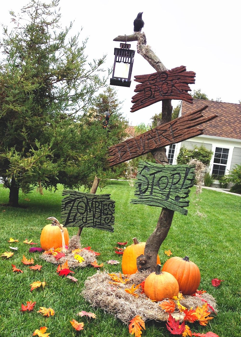 A few weeks back, I sketched this concept of a spooky sign post for - Scary Halloween Yard Decorating Ideas