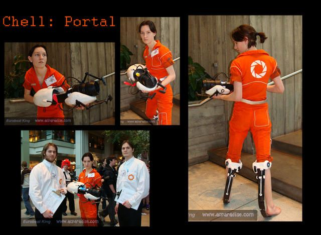 Chell Costume With Portal Gun Holiday Halloween Costumes