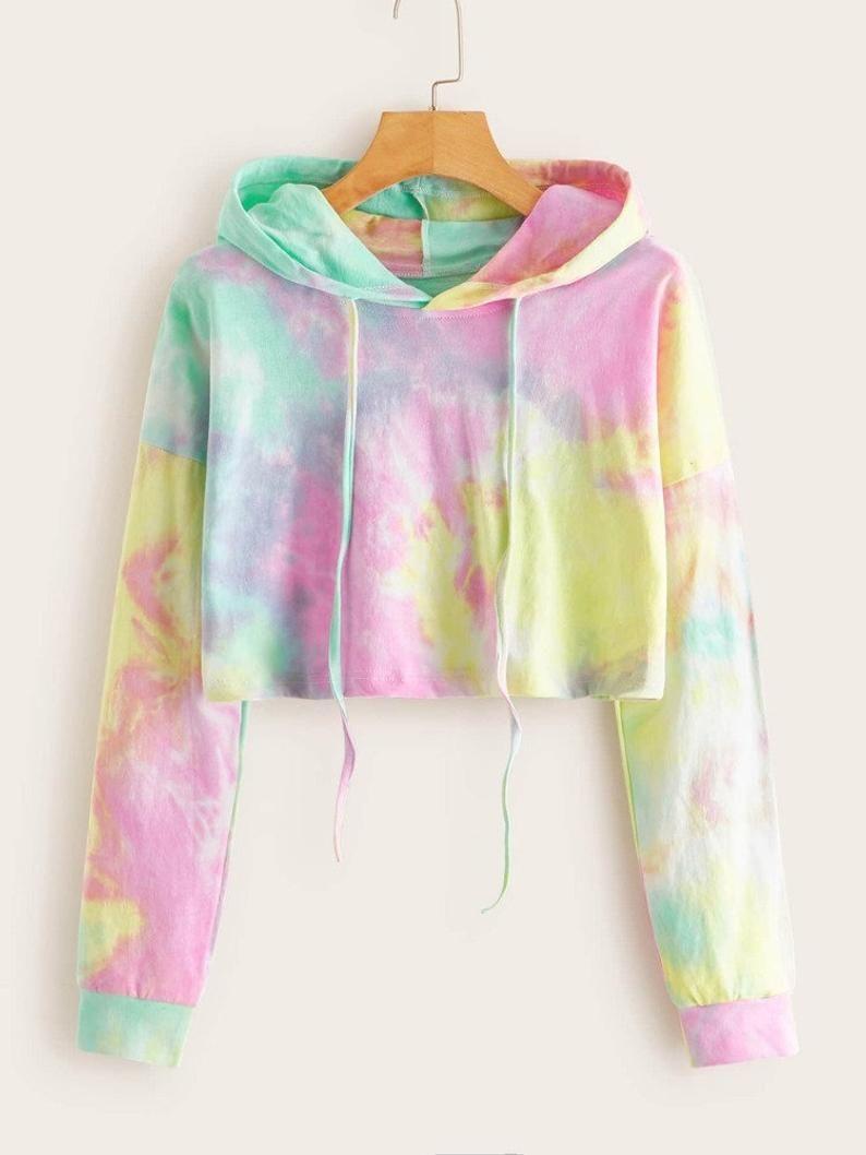 Tie Dye Cropped Sweatshirt Roupas Tie Dye Moletom Tie Dye Moletom Cropped [ 1058 x 794 Pixel ]