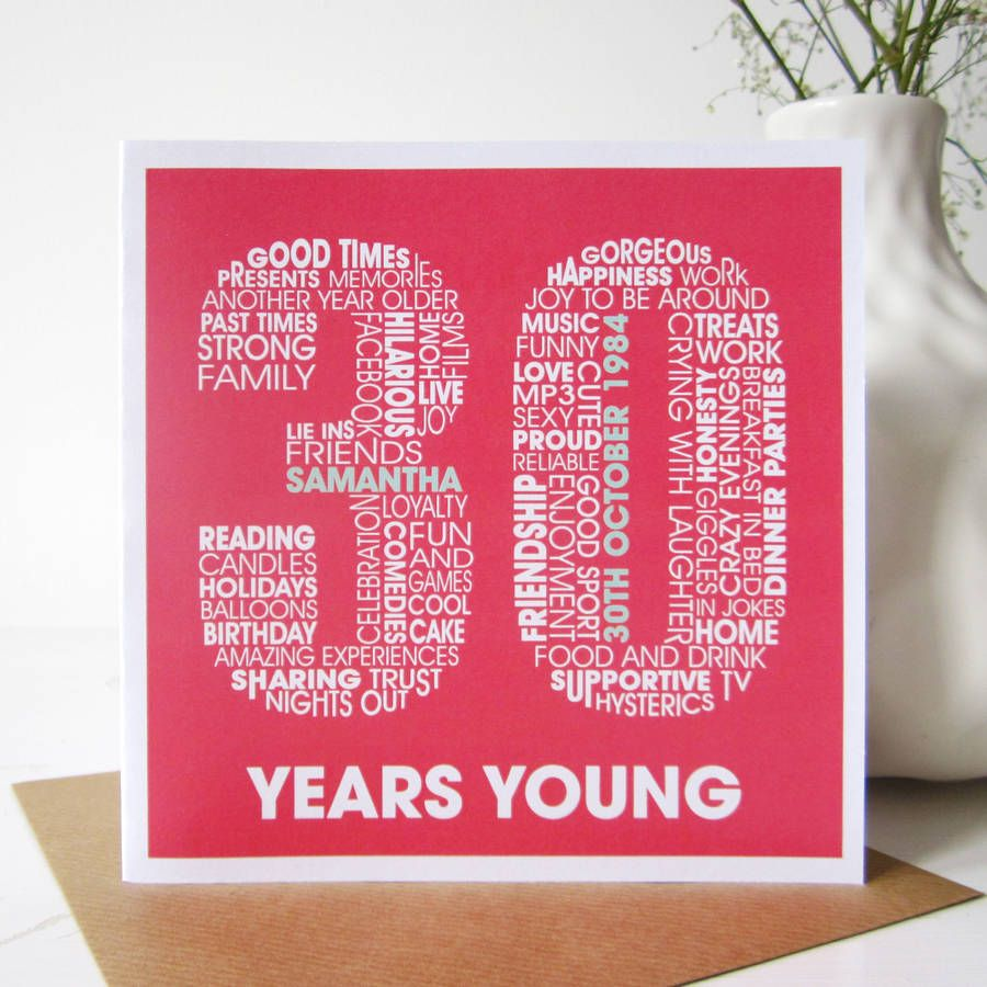 30th birthday card google search inspiration letting 30th birthday cards kristyandbryce Choice Image
