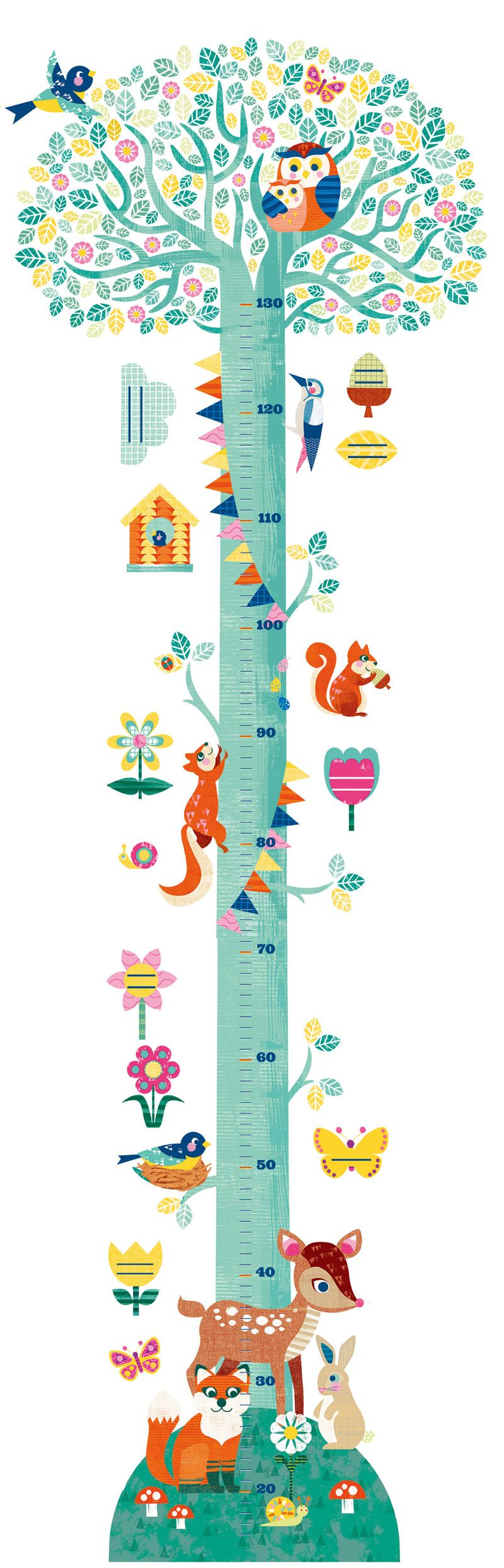Djeco - Height Chart - Kate McLelland Illustration ...