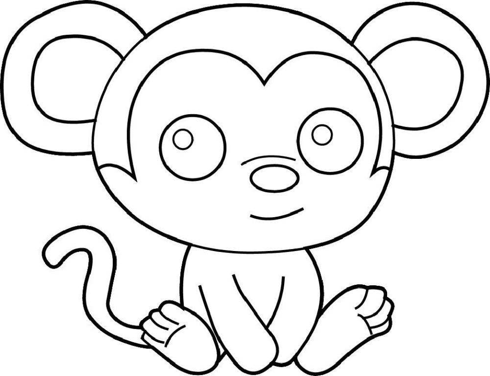 Easy And Hard Coloring Pages Of Monkeys 101 Activity Monkey Coloring Pages Panda Coloring Pages Animal Coloring Pages