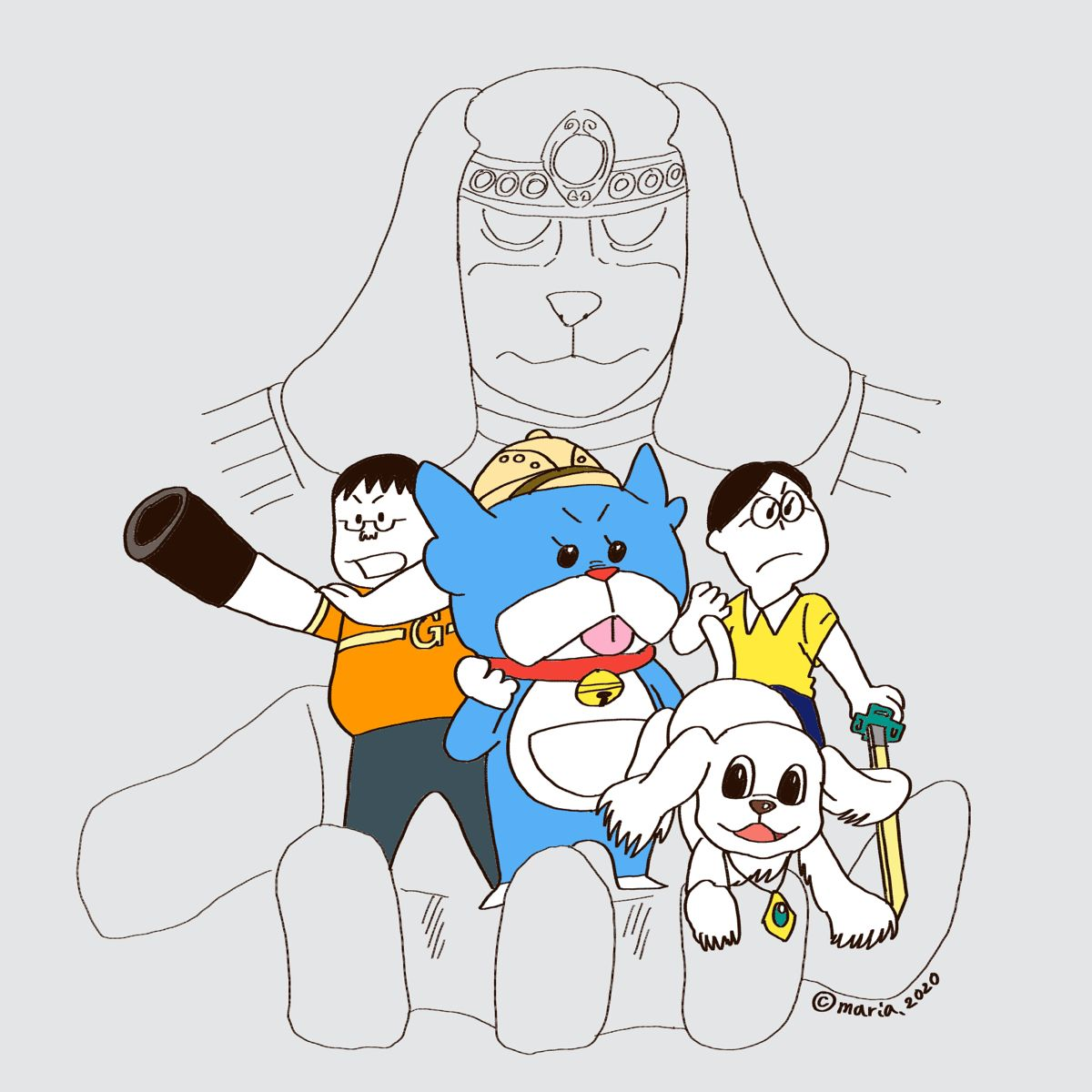 家族でパロってみた ドラえもん編 ドラえもん イラスト 漫画