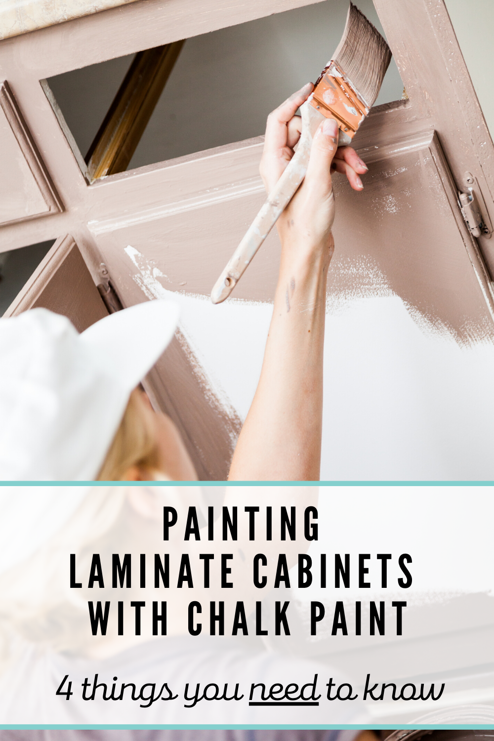 How To Paint Laminate Cabinets With Chalk Paint Kate Decorates In 2020 Painting Laminate Cabinets Painting Laminate Laminate Cabinets