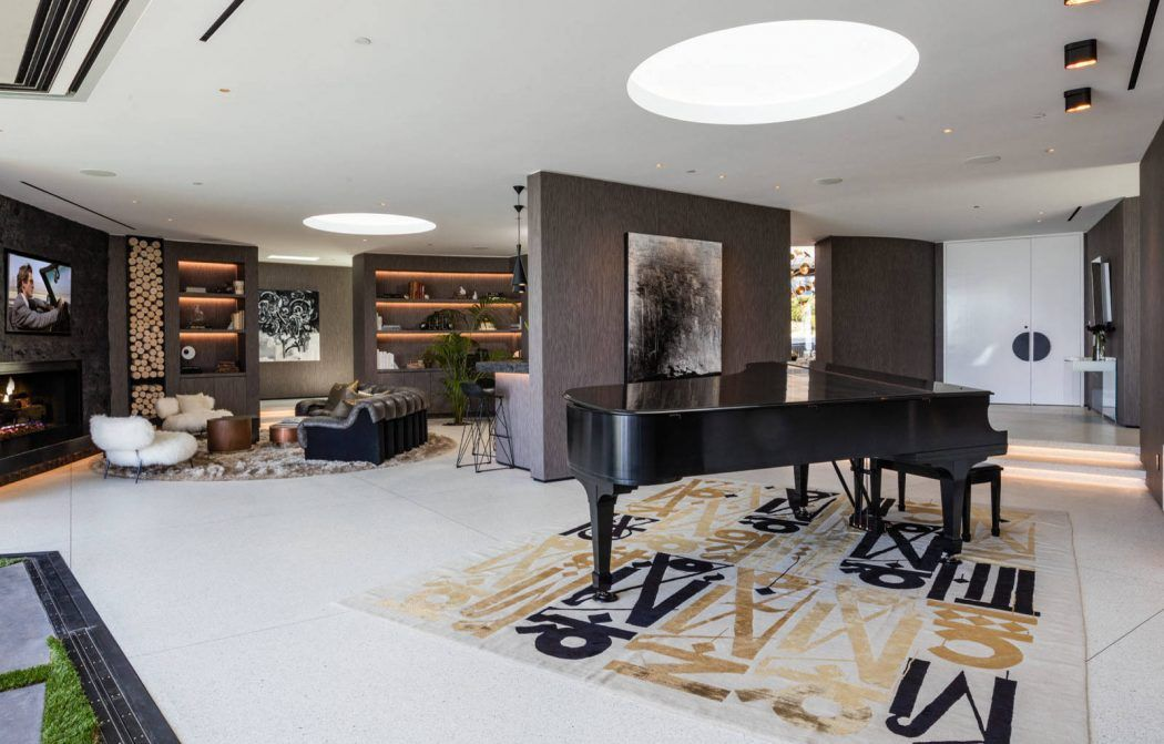 Beverly Hills Bachelor Pad by HSH Interiors lighting ideas