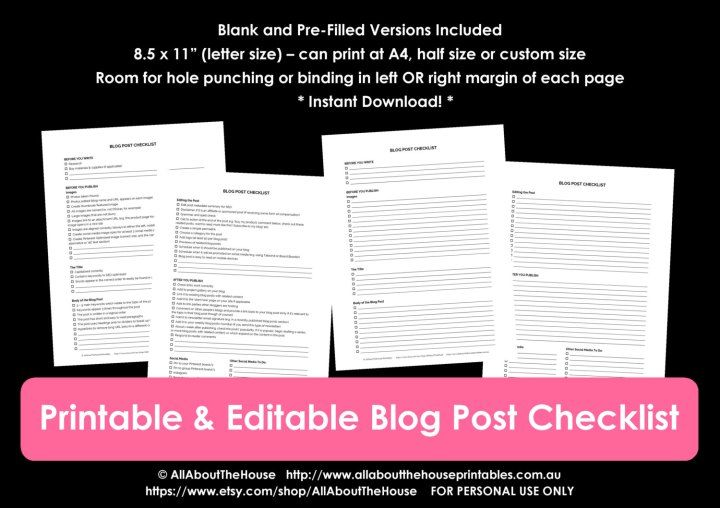 How to write and publish a blog post in 1 hour plus a free free printable blog post checklist editable workflow template free blogging resource how to write a blog maxwellsz