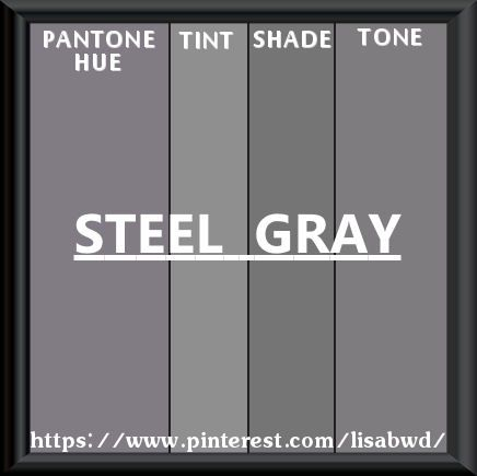 Pantone Seasonal Color Swatch Steel Gray
