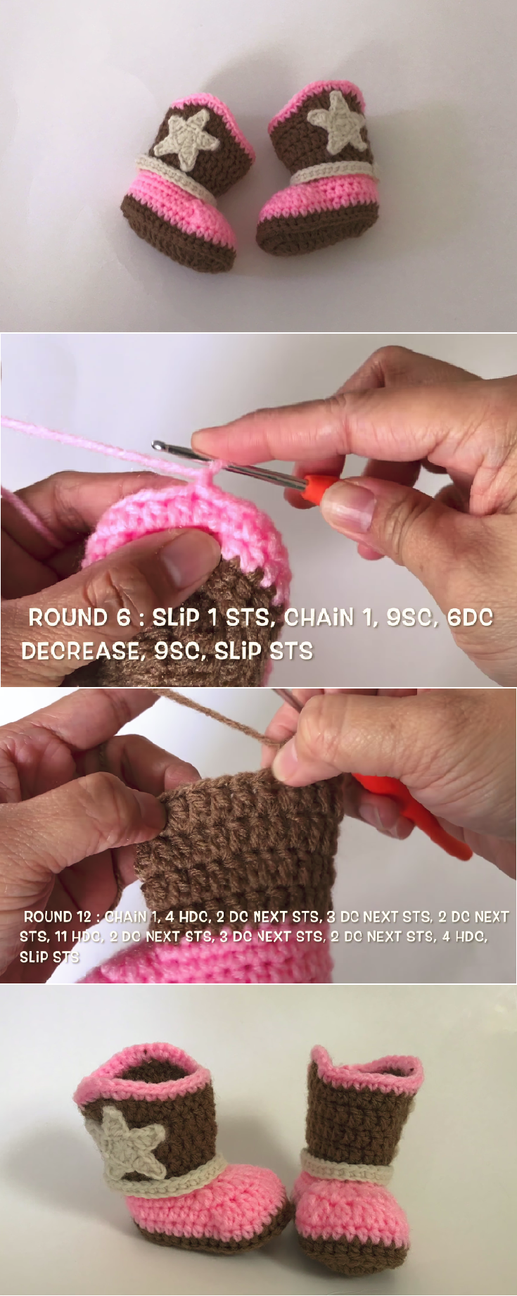 Crochet Easy Cowboy/Cowgirl Boots | Dicas importantes | Pinterest ...