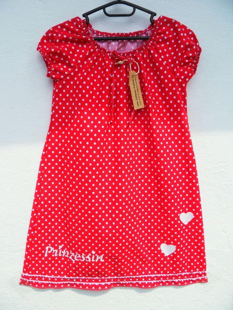 1b4c80a034c Punkte Dots rot weiß Prinzessin Mädchenkleid NEU Gr. 122 128
