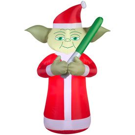 Gemmy 6 Ft X 2 29 Ft Lighted Star Wars Yoda Christmas Inflatable Star Wars Christmas Christmas Decorations Christmas Spectacular