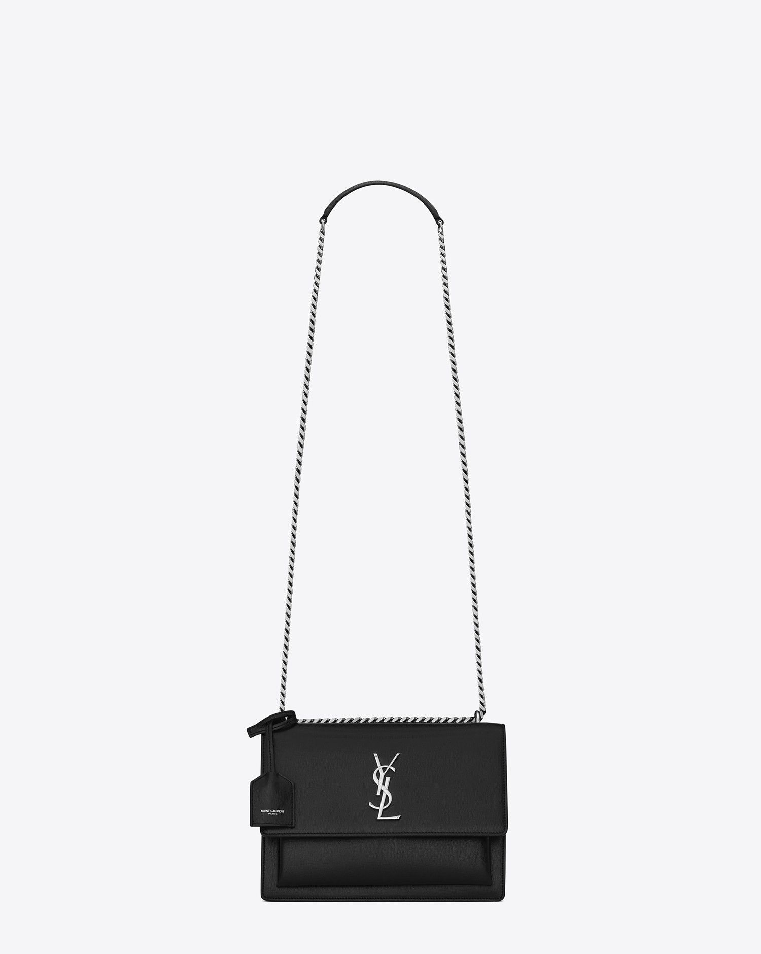 Saint Laurent Medium SUNSET MONOGRAM SAINT LAURENT Bag In Black  d9b66f03ed7cd