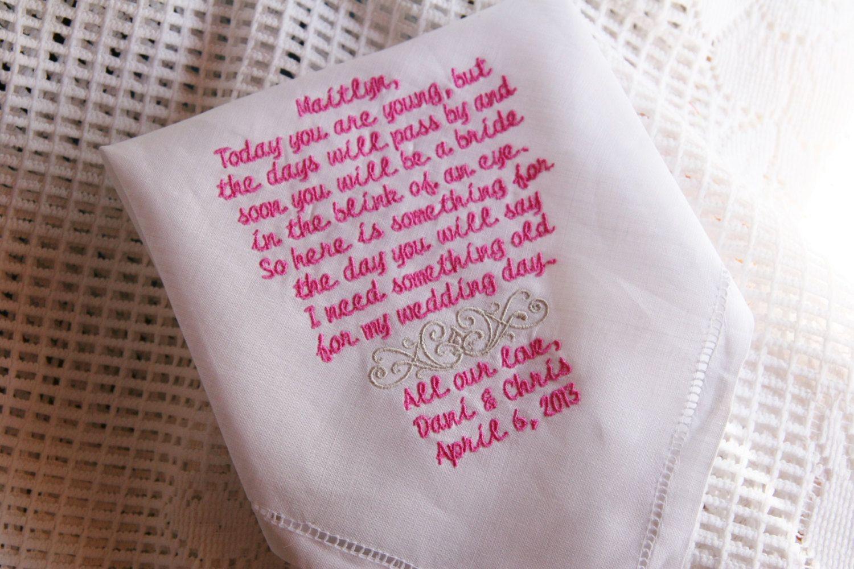 Flower Girl Keepsake Linen Hemstitched 12x12 Handkerchief Gift to ...