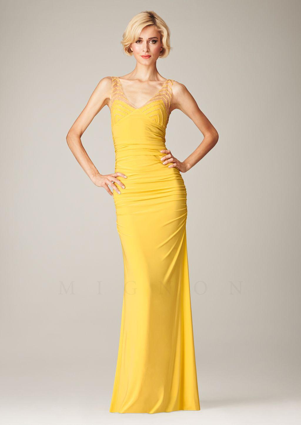 Simple yet elegant yellow cocktail dress classy dresses