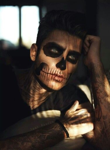 Halloween Looks For Guys.Fun To Draw On Myself Makeup Sfx Halloween Halloween