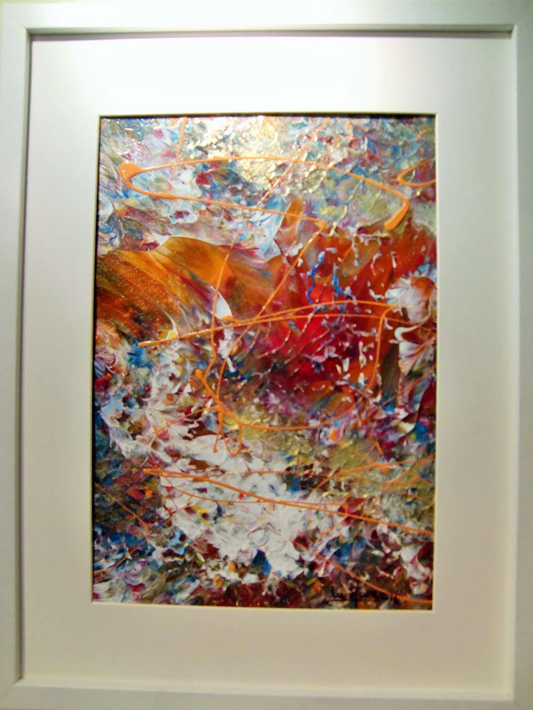 Peinture tableau abstrait VENT :Tryptique dyptique Tableau acrylique ...