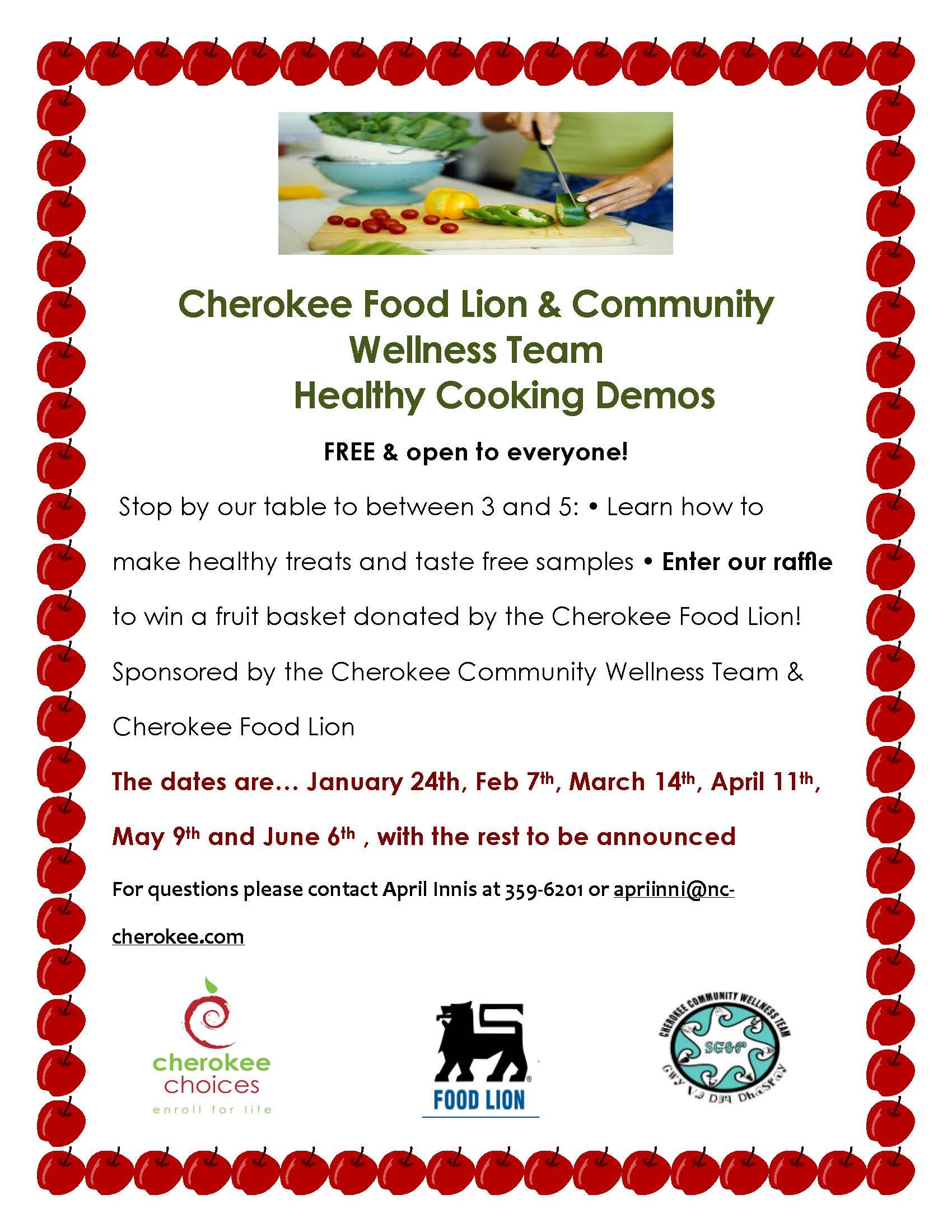 Healthy Cooking Demo This Thursday At Food Lion Cherokee Food Food Lion Healthy Cooking