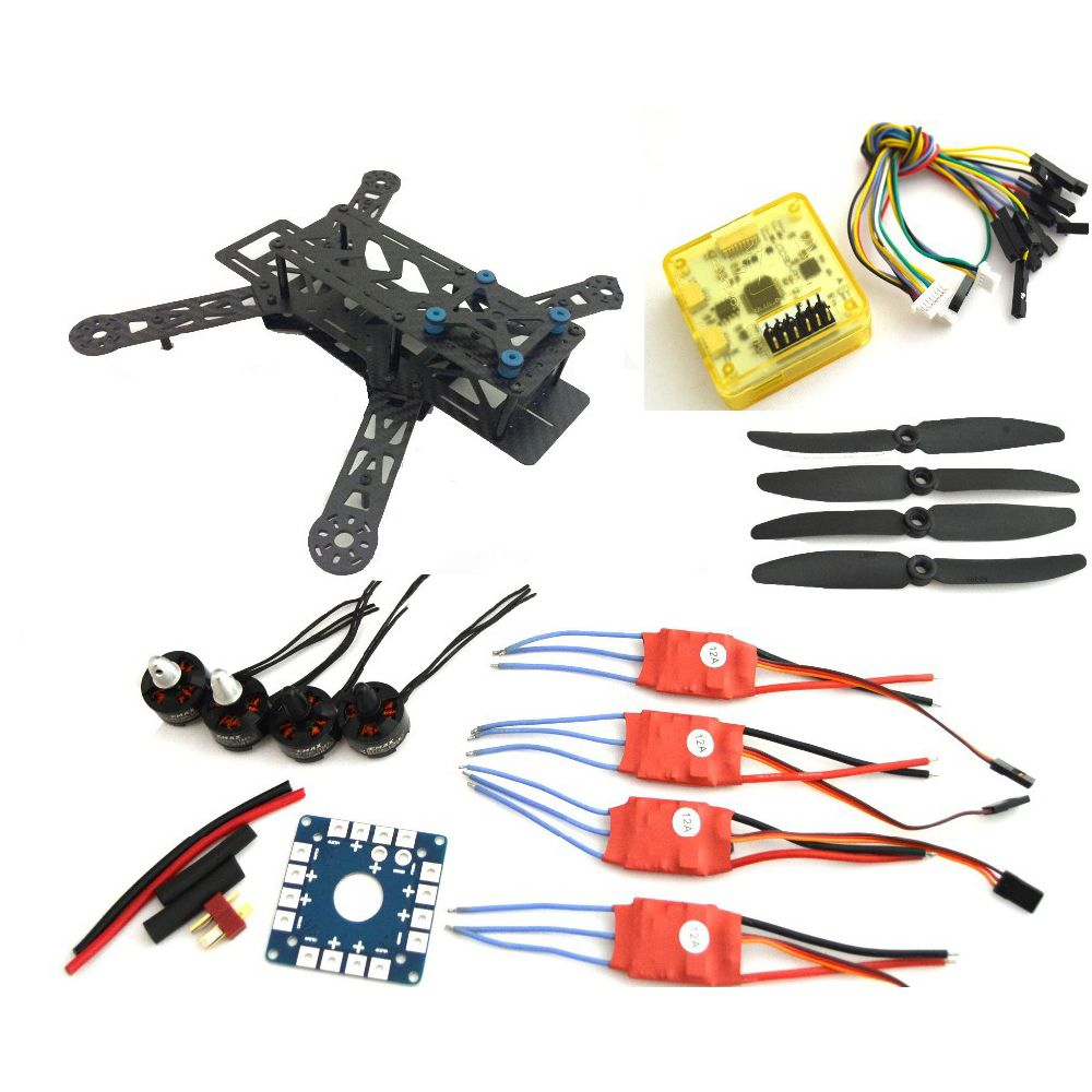 fpv quadcopter 250pro carbon fiber frame super cc3d flight controller mt1806 2280kv motor 12a simonk esc fpv drones affiliate [ 1000 x 1000 Pixel ]