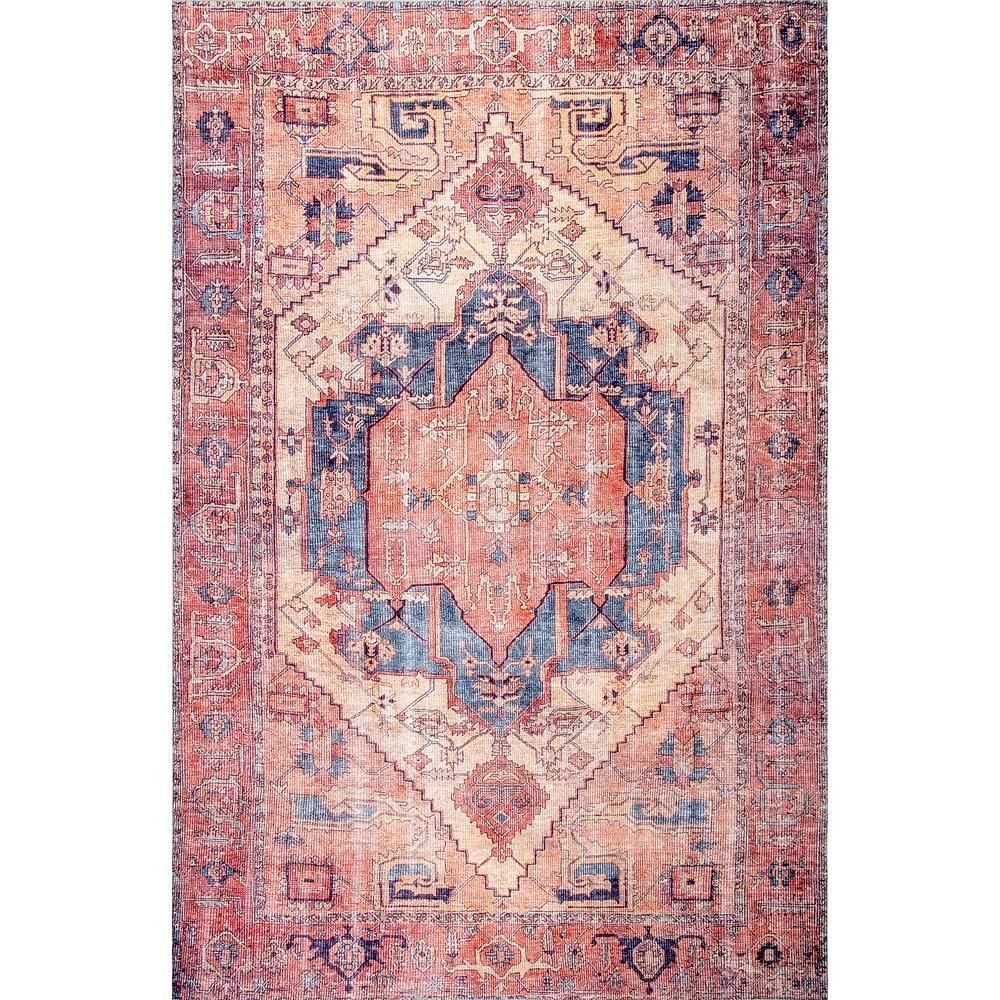 Nuloom Quinne Oriental Persian Peach 8 Ft X 10 Ft Area Rug Bimr01a 8010 In 2020 Area Rugs Peach Rug Rugs